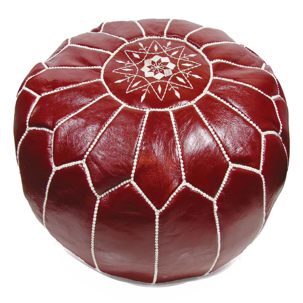 Leder-Sitzkissen Rot ALMADIH Pouf