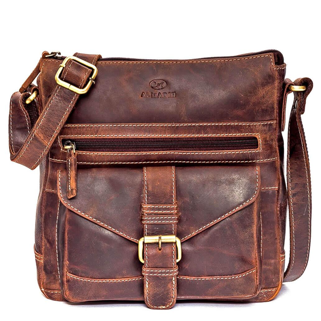 ABBY ALMADIH Leder Damentasche Braun Vintage