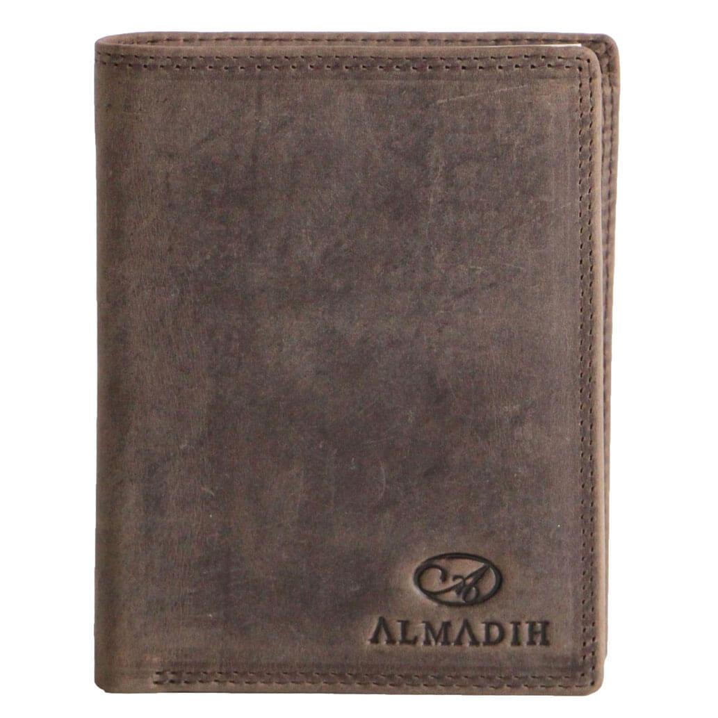 P0H ALMADIH Leder Portemonnaie Herren Braun Vintage