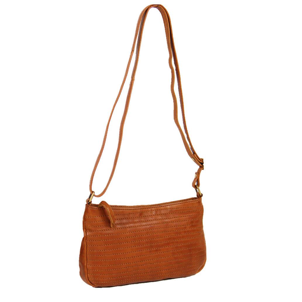 LANA ALMADIH Leder Damentasche Braun Vintage