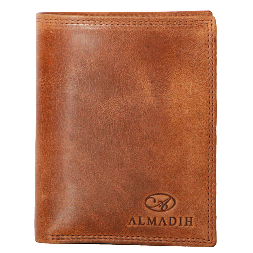 P2H ALMADIH Leder Portemonnaie Braun Tan