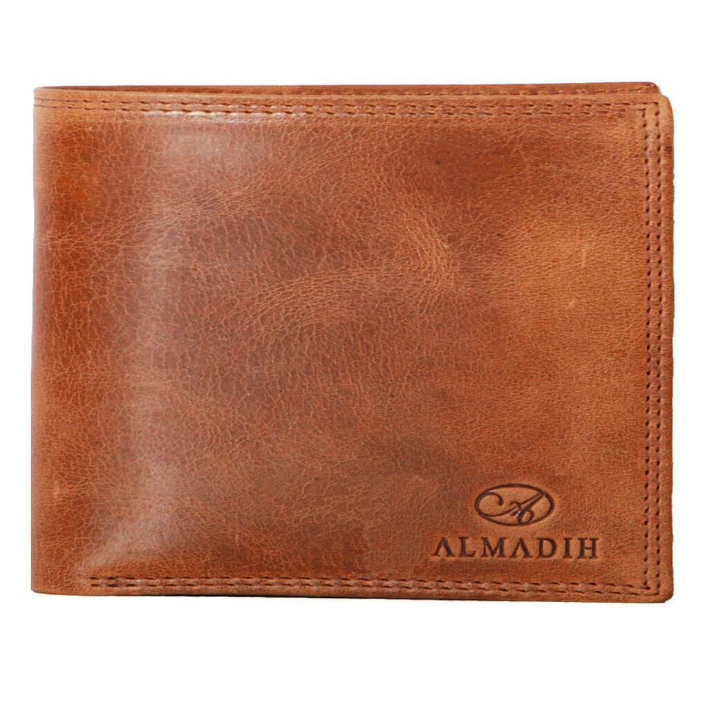 P2Q ALMADIH Leder Portemonnaie Braun Tan