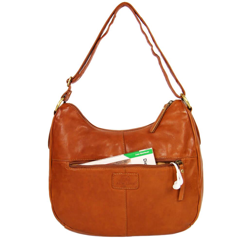 DANA ALMADIH Leder Damentasche Braun Vintage
