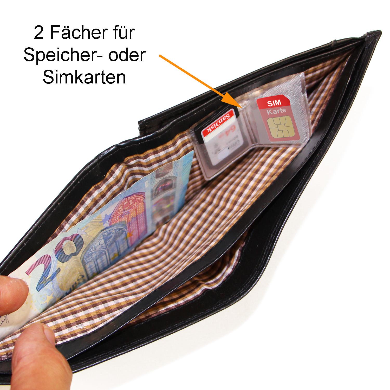 P2H ALMADIH Leder Portemonnaie Schwarz