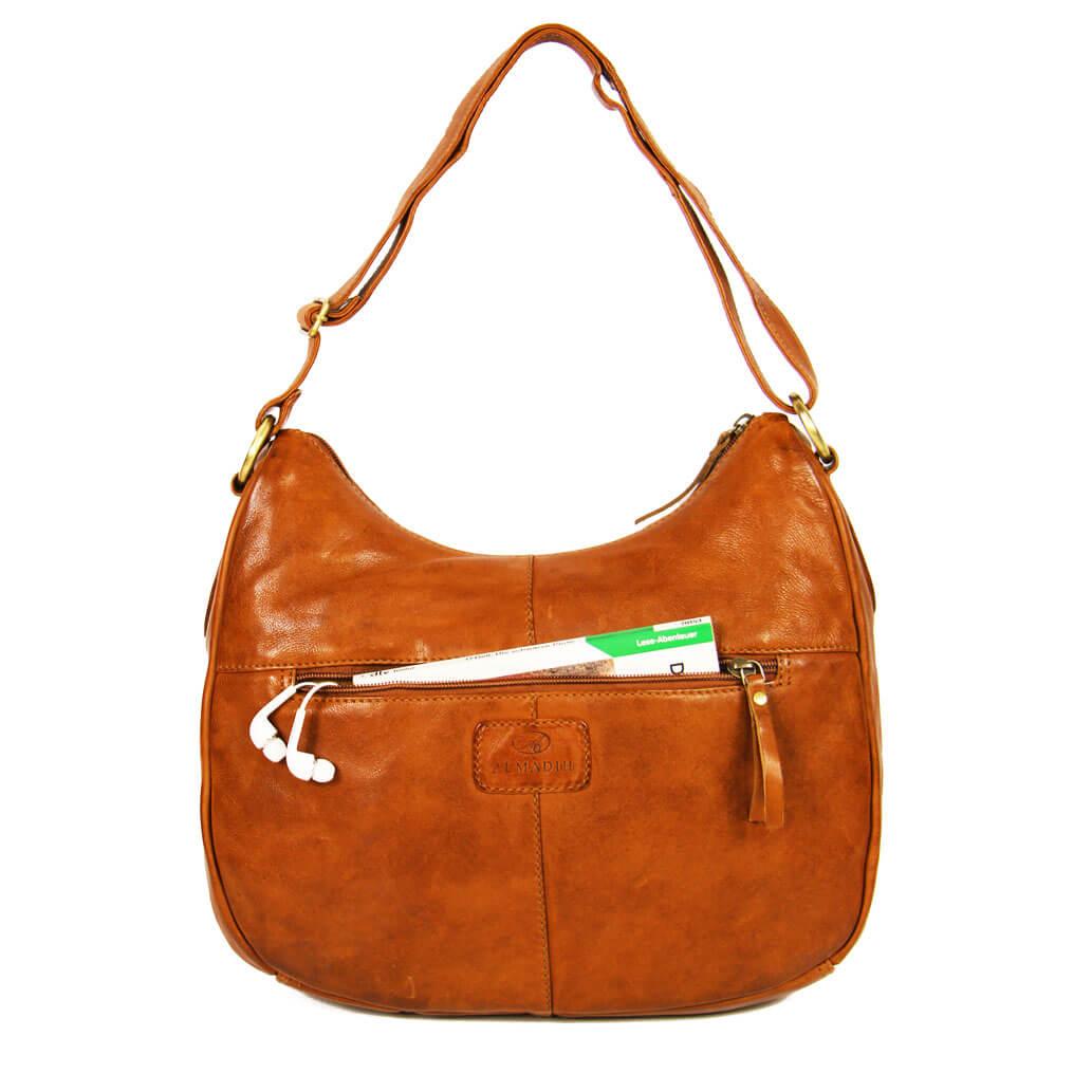 TESS ALMADIH Leder Damentasche Braun Vintage