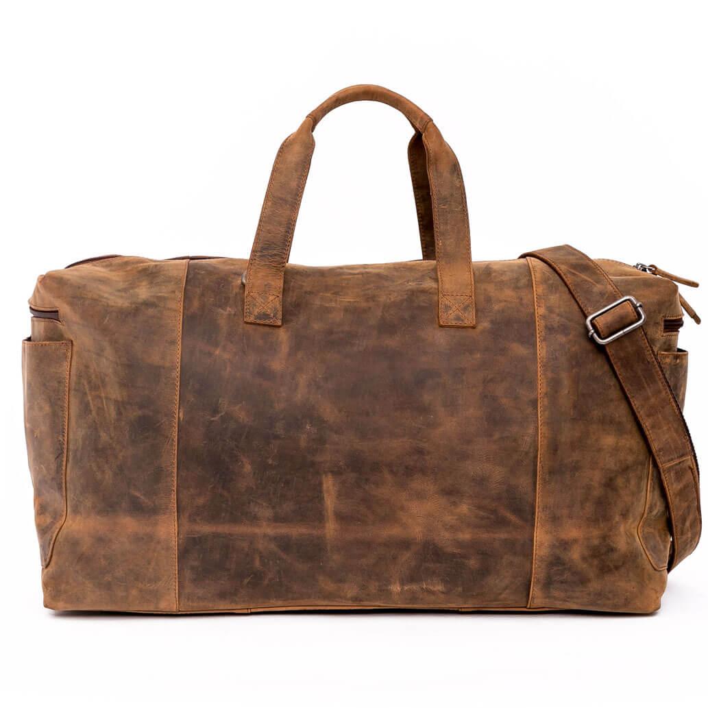 AIKO ALMADIH Leder Reisetasche Braun Vintage