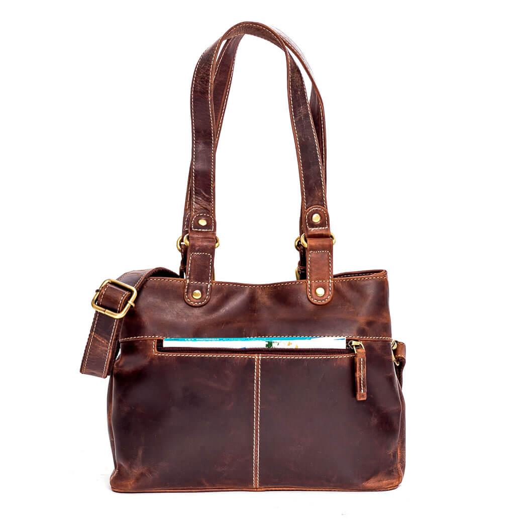 NORA ALMADIH Leder Damentasche Braun Vintage