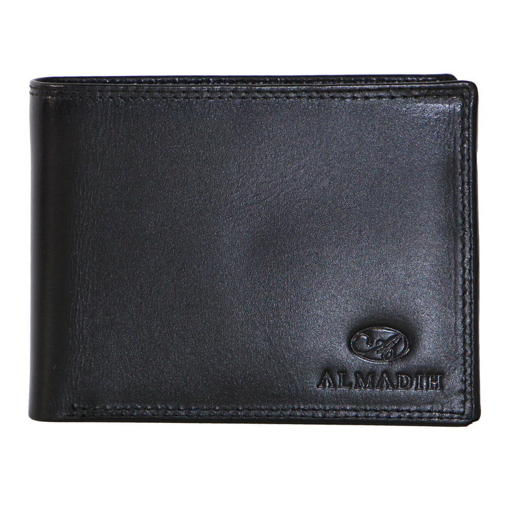 P2Q ALMADIH Leder Portemonnaie Schwarz