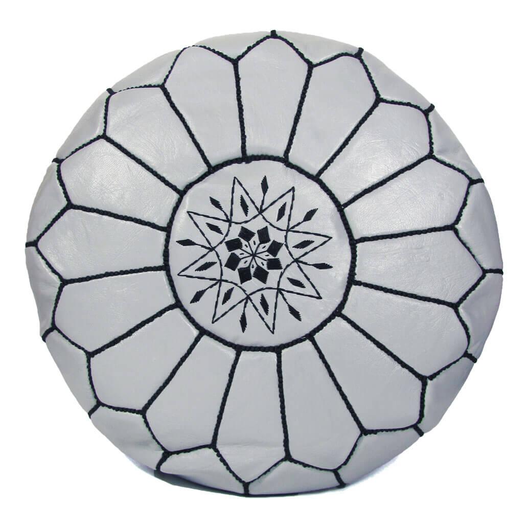Leder-Sitzkissen Grau ALMADIH Pouf