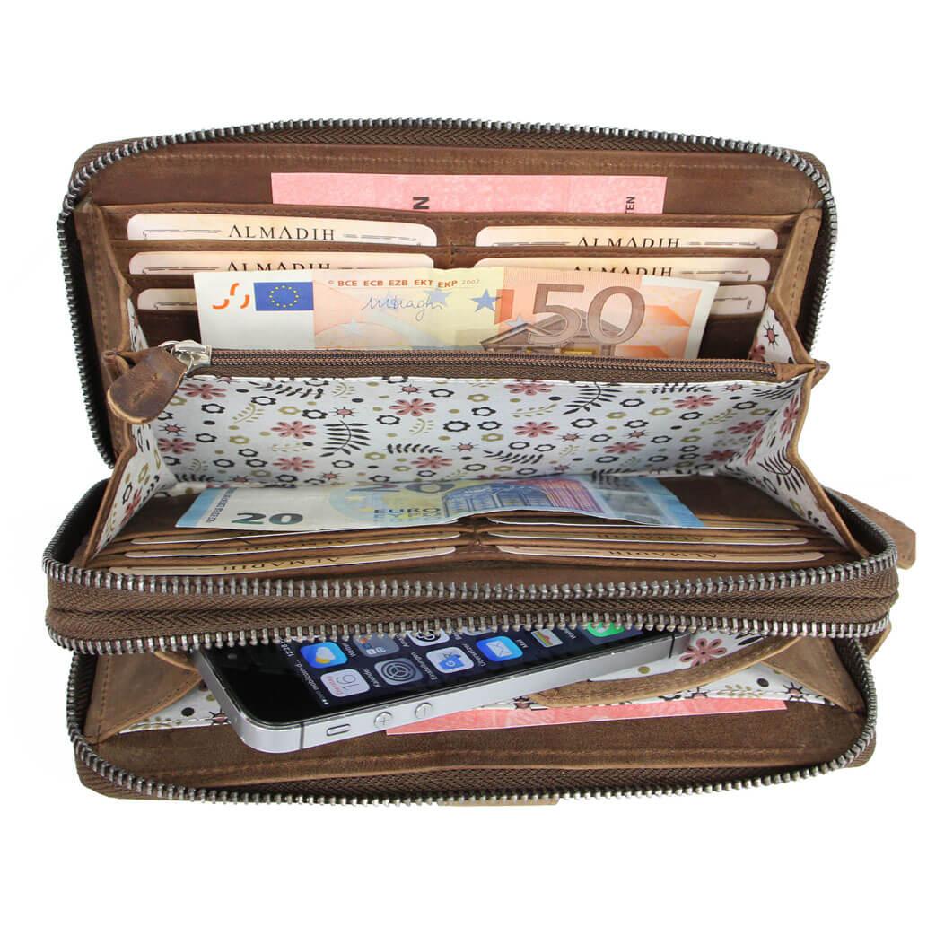 GIANA Geldbörse RFID Portemonnaie mit Handyfach & Handgelenkschlaufe
