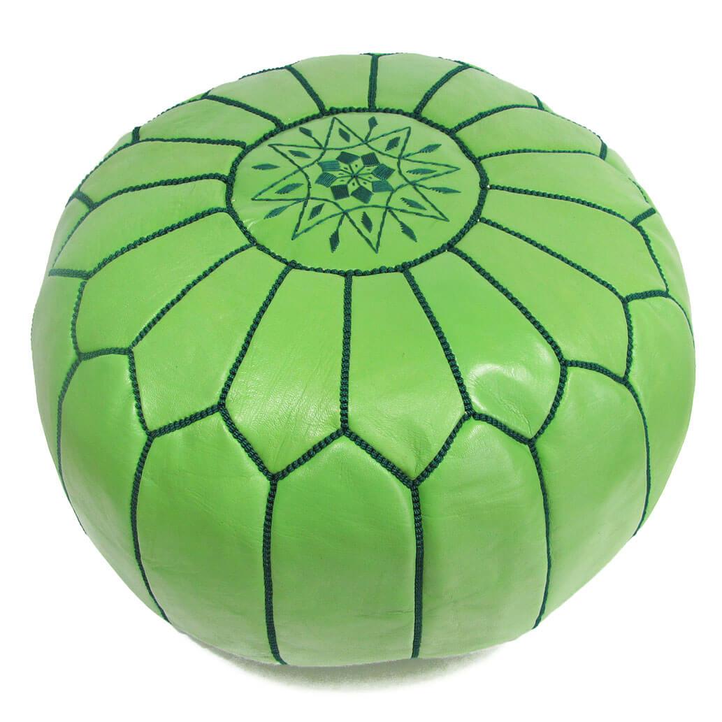 Leder-Sitzkissen Hellgrün ALMADIH Pouf