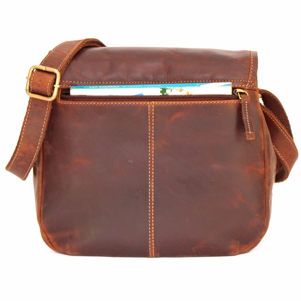 LOLA ALMADIH Leder Damentasche Braun Vintage