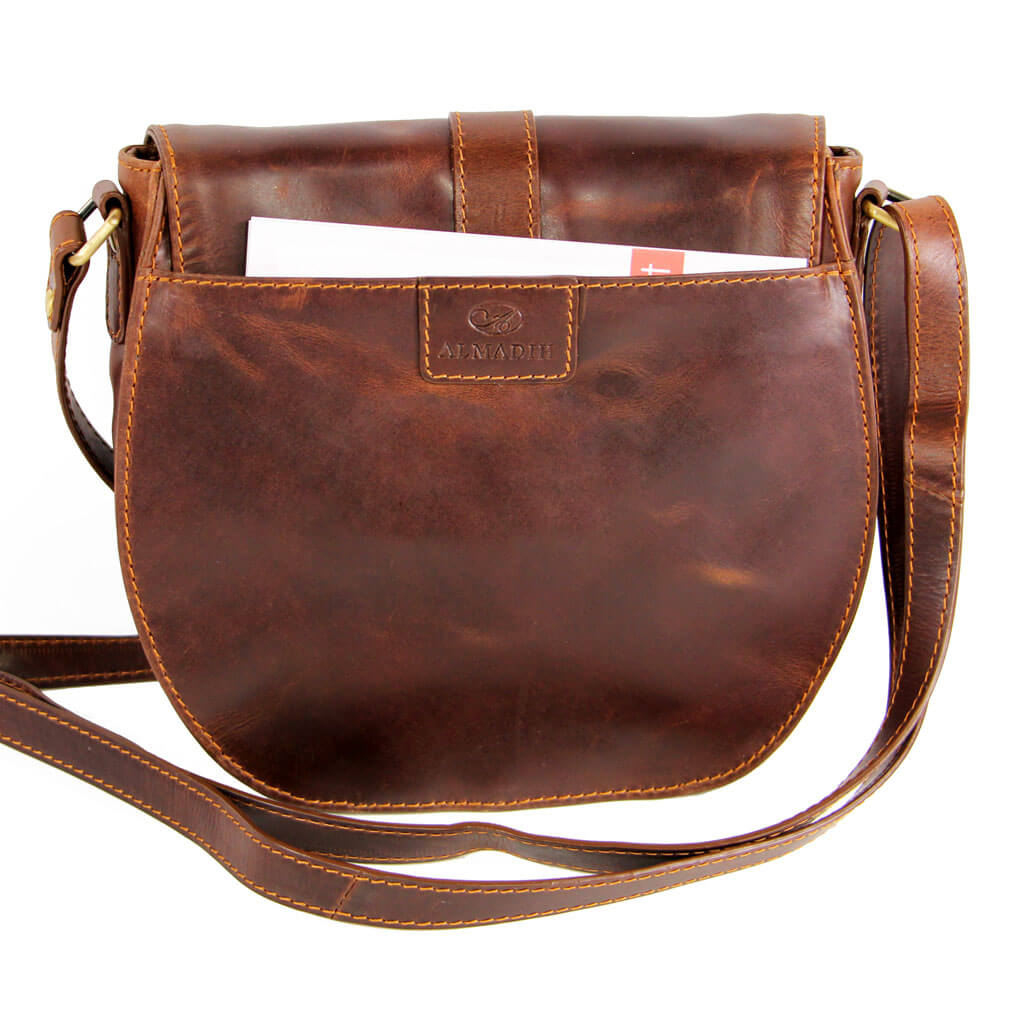 ELLIE ALMADIH Leder Damentasche Braun Elegance