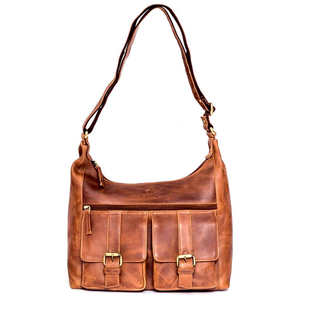 LARA ALMADIH Leder Damentasche Braun Deluxe
