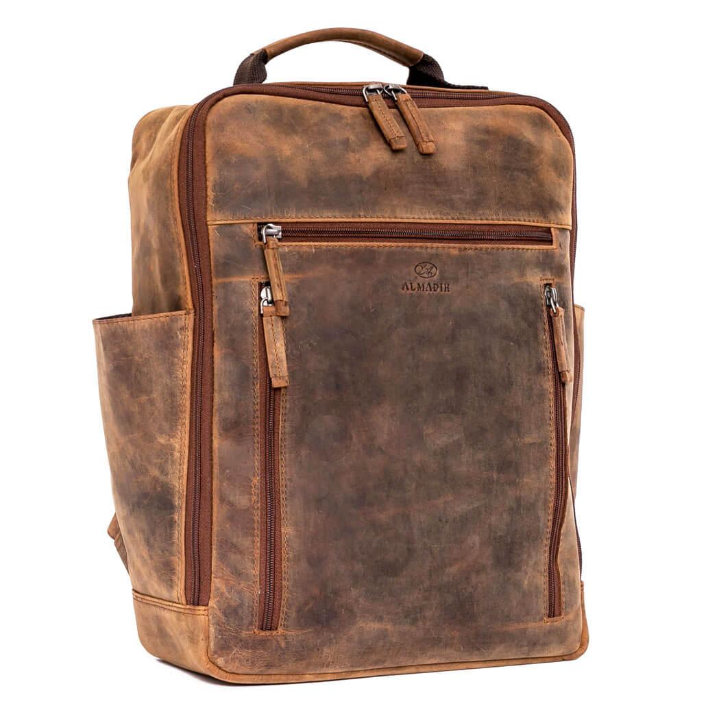 MOE ALMADIH Leder Rucksack Braun Vintage