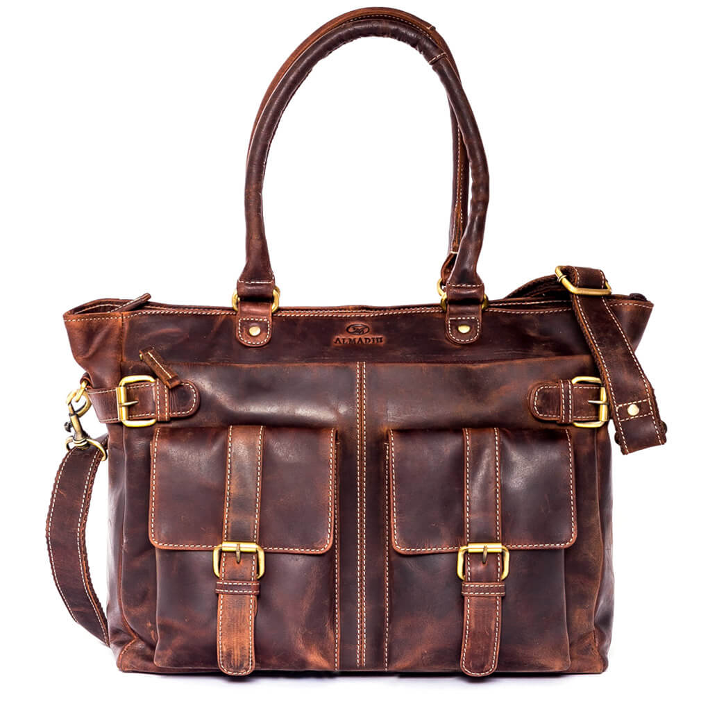 EVA XL Leder Handtasche Braun Vintage