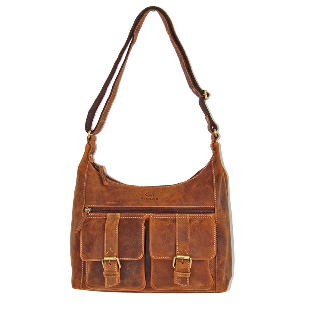 LARA ALMADIH Leder Damentasche Braun Vintage