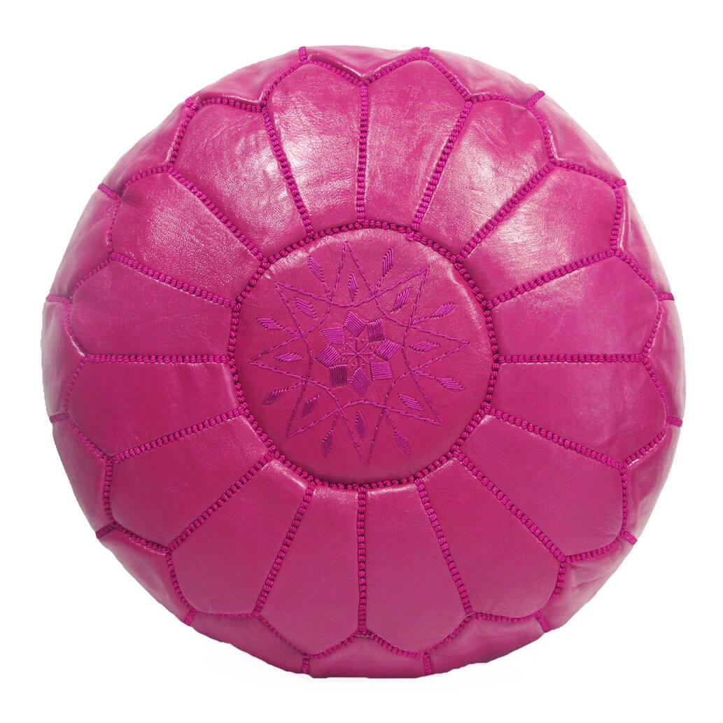 Leder-Sitzkissen Pink ALMADIH Pouf
